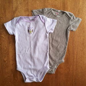 Carter's bodysuits owl and stripes 9m